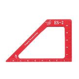 Drillpro ES-2 Liga de Alumínio 45 Régua de Ângulo de Marcação de 90 Graus com Régua de Altura Base Régua para Marcenaria Triângulo Ferramenta de Medição
