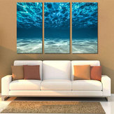 Pinturas pintadas à mão da combinação de Miico luz - arte azul da parede do Seawater para a decoração home