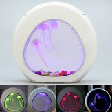 Medusa de incandescência do tanque de peixes do aquário LED 7 cores de luz Decoração de mesa em casa