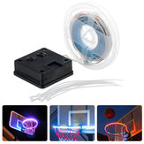 1M Solar Powered Waterproof 8 Modes IP67 RGB White 30LED Basketball Rim Strip Light for Outdoor Use