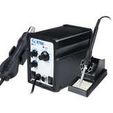 YAOGONG 878A 750W Rework Soldering Station Hot Air Solder Iron Welder Digital Tool with 3 Tips