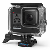 SheIngKa FLW318 60M vandtæt undervandsdykking beskyttelses sag Shell til GoPro Hero 8 Black Action Sports Camera