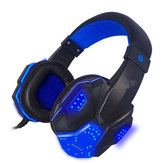 3.5mm USB Wired Gaming Headband Headphone com LED Light Surround Stereo Headset para XBOX PS4 Computador de console do jogo