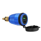 QC3.0 Type-C Waterproof General Quick USB Charger Socket Charger Blue Light