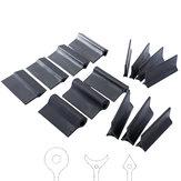 14Pcs Almohadilla de pulido de contorno flexible Bloque de lijado Estera de papel de lija de goma Cóncavo convexo para torneado Tallado en madera herramientas