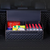 Car Trunk Storage Bag PU Leather Folding Collapsible Car Organizer Box