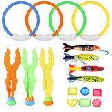 17 Stücke Unterwasser Schwimmen Tauchen Pool Spielzeug Kinder Spaß Tauchtraining Spielzeug