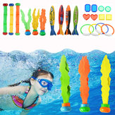 22 Unids Juguetes de buceo Anillo de buceo Torpedo Sticks Summer Swimming Recreation Kit Set Underwater Toys