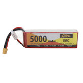 ZOP Power 11.1V 5000mAh 80C 3S Lipo Batería XT60 Enchufe para RC Racing Drone
