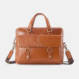 Men Genuine Leather Vintage Large Capacity Handbag Messenger