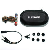 PLEXTONE Universal Portable Waterproof Zipper Nylon Earphone USB Cable MP3 Memory Card Battery Digital Gadgets Organizer Storage Bag