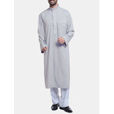 INCERUN Mens Middle East Robe Árabe Tops Cafetã Meio Aberto