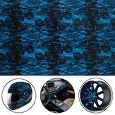 Cool Blue Fire Hydrographic Water Transfer Film Hydro Dipping DIP Afdrukken Alle auto-decoraties
