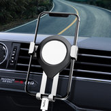 TOPK Metal Gravity Linkage Automatic Lock Air Vent Car Phone Holder For 4.5-6.5 Inch Smart Phone for iPhone for Samsung Redmi Note 8