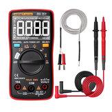 ANENG AN113D Multimètre numérique à mesure automatique True RMS 6000 compteurs Résistance Diode Continuité Testeur Température AC / DC Tension Compteur de courant Mis à niveau à partir de AN8002