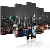 5 PCS Besar New York Night Canvas Print Lukisan Lukisan Gambar Wall Art Dekorasi Rumah