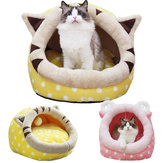 Cute Animal Diseño Cómoda cama de la casa interior Pet Perro Gato Nest Pad Soft Fleece Bed