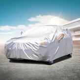 Audew Five Layers Impermeable All Weather Coche Cover Rain Sun Uv Protección contra el polvo para automóviles interiores al aire libre Fit Full Size Sedan y SUV