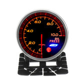 12V 2'' 52mm 1/8 NPT Oil Press Pressure Gauge Meter LED 10 Colors & Sensor