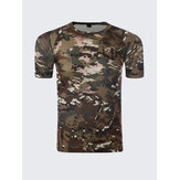 Herren Army Military Tactics Camouflage Kurzarm T-Shirt Freizeit Outdoor Sports Top Tees