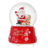 Santa Crystal Ball mit Lichtmusik-Effekt-Spieluhr-Weihnachtsgeschenk-Tabellen-Inneneinrichtung