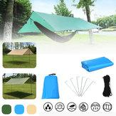 400x300cm Outdoor Rainshed Güneşlik Sky Perde Kampçılık Çadır Tente Kampçılık Plaj Piknik Güneş Barınağı Tente Çadırı