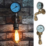 Medidor de tubería de agua industrial vintage Steampunk Wall Lámpara Sconce Light Fixture Decorations