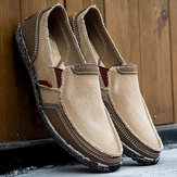 Hombres Slip On de lienzo lavado Soft Slip On Shoes
