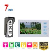 ENNIO 7 inch Record Wired Video Door Phone Doorbell Intercom System with   AHD 1080P Camera