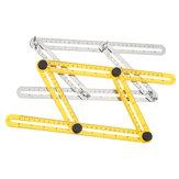 Drillpro ABS / Wielofunkcyjna składana linijka ze stali nierdzewnej Elastyczna linijka równoległa z czterech stron