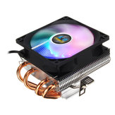 4Pin CPU Cooler 4 Heatpipe LED RGB Cooling Fan For LGA 775 1155 1156 1150 1366 AMD