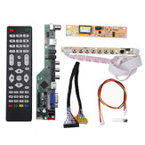 T.V53.03 Universele LCD LED TV Controller Driver Board TV / PC / VGA / HDMI / USB + 7 Key Button + 2ch 6bit 30pins LVDS Kabel + 1 lampomvormer