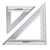 Drillpro 120/180mm Metric Triangle Angle Ruler Stainless Steel Woodworking Square Layout Tool