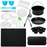 20Pcs Air Fryer Accessories Cake Barrel Cake Mode Toast Rack Pizza Oven Barbecue Frying Pan Tray Pot