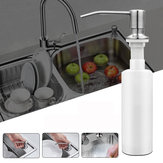 300ml Stainless Steel Sink-Mounted Liquid Soap Dispenser Kitchen Bathroom Bottle