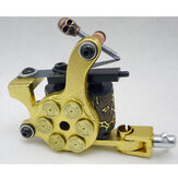 Bullet Black Tattoo Machine Custom Dual 10-Wrap Coils Liner