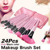 24 stks / set Pro Make-up kwasten Kit Powder Foundation Oogschaduw Eyeliner Lip Brush