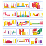 Creatieve houten Domino regenboog blokken puzzel Montessori educatief speelgoed voor kinderen