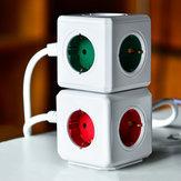 Nướng10A2KhecắmUSB 4 Ổ cắm cắm EU Cube Ổ cắm điện di động
