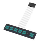 3шт Дисплей Матрица мембранного переключателя Клавиатура Кнопка управления Панель 6 Кнопка с подсветкой