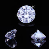 5/10/12/15/20mm Round D White VVS Simulated Hearts & Arrow Lab-Created Diamond Gemstones Decorations
