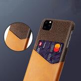 Bakeey Luxury PU Кожаная Ткань с Слотом Карты Ударопрочный Защитный от царапин Чехол для iPhone 11 Pro 5.8 дюймов
