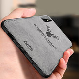 BAKEEY Deer Classic Canvas Cloth Shockproof TPU Protective Case for Samsung Galaxy S20