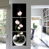 3Pcs Modern Abstract Flower Art Canvas Print Paintings Picture Decoración de la pared del hogar