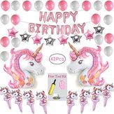Unicorn Alüminyum Balon çocuk Festivali Doğum Günü Partisi Dekorasyon