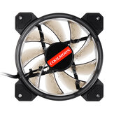 12CM 3 Pin 1 Fan 12 Modes Adjustable Colorful RGB LED Silent Computer Case Cooling Fan