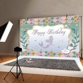 Our Little Mermaid Sweet Birthday Party Backdrop Decorations Background Baby Photography Props