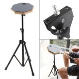 8 Inch Rubber Wooden Dumb Drum Pad with Stand Bag for Percussion Instruments