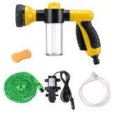 12V portátil de alta pressão bomba de lavagem de carro elétrico bomba de água kit pulverizador kit de limpeza de água de espuma