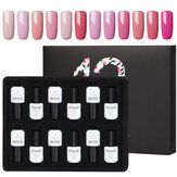 12 Pcs Solid Color Nail Polish Set